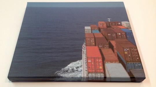 Œuvre photographique imprimée sur toile à canevas.
